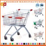 Trole plástico do carro de compra do mantimento do metal do fio da grande capacidade (Zht215)