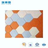 Panneau de mur acoustique d'insonorisation d'hexagone coloré de surface plane