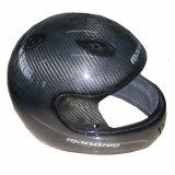 Il casco leggero dell'automobile elettrica della fibra del carbonio mette in mostra il casco