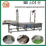 Máquina de lavar contínua automática do vegetal da arruela do pepino da máquina de lavar da fruta