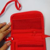 선전용 주문을 받아서 만들어진 방아끈 여행 폴리에스테 여권 지갑 홀더
