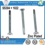 SS304 1022 Bi-Metal vis à tête plate