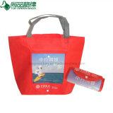 Personnaliser le Non-Woven bon marché de promotion de cadeau pliant le sac à provisions portatif