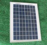 Mini modulo solare monocristallino 10W per l'indicatore luminoso di via solare del LED