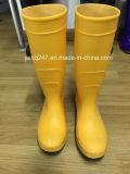 La mejor calidad de goma de seguridad botas de lluvia Gumboots de seguridad con puntera de acero y suela en Guangzhou