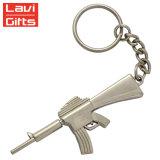 金属のKeychainメーカーの販売のためのカスタム金属小型銃の形のキーホルダーKeychain