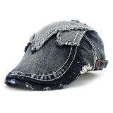 男女兼用旅行日よけ固体型様式の使い古した苦しめられたデニムのキヅタの帽子