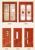 Stile europeo che intaglia il portello di legno di vetro di mosaico per la villa (YH-6016)