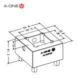 Aço de precisão Weling porta-eléctrodos para máquina de EDM 3A-520105