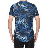 Nova chegada dos homens Ronda Casual curva do pescoço dele T-shirt