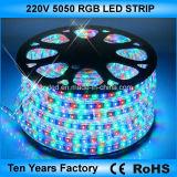 100m un rollo SMD 5050 de 220V, Tira de LED RGB