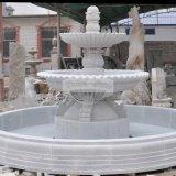 La sculpture en marbre De Pierre Blanche Fontaine à eau (GSF-110)