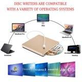 Unidade de gravador de CD DVD externa para notebook/PC/Mac