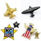 卸売によって個人化されるカスタム金属の航空機3Dの金の飛行機の折りえりPin