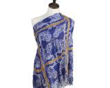 2018 Mulheres Pendão Hijab Lenços de cintagens da Cabeça de algodão Lenços Xale
