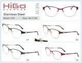 De roestvrije Optische Frames van het Metaal van de Groothandelaar van de Bril met Kristallen