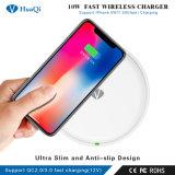 De hoogste Lader van de Telefoon van Qi van de Verkoop 10W snel Draadloze Mobiele voor iPhone/Samsung/Xiaomi/Huawei