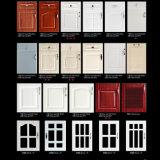 Porta de gabinete de madeira da cozinha do MDF do PVC do estilo americano (FY061)