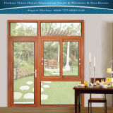 Алюминиевое окно двери с сползая окном и фикчированным окном