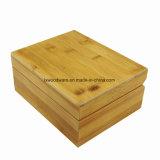 Singolo contenitore di regalo di legno di bambù solido della vigilanza