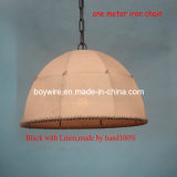 iluminación pendiente de lámpara 100%Handmade del estilo americano de lino de la cortina
