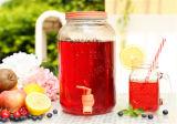 Recipiente de vidro da bebida de vidro quente do Sell/frasco do armazenamento com torneira