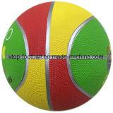 ثلاثة لون لعبة مطاط كرة سلّة