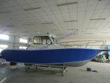 Bateau de pêche d'alliage d'aluminium en grande mer