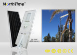 6W-120W integrado Sun Power Solar LED farolas con sensor de movimiento