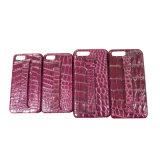 Caixa genuína do telefone móvel da pilha do crocodilo do caso de couro luxuoso do iPhone