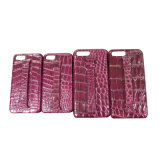 Lederner iPhone Luxuxfall-echter Krokodil-Zellen-Handy-Fall