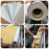 4ply flama - tela revestida da cortina de Blockout da fibra de vidro do PVC do retardador