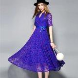 Großhandels-Polyester-Spitze-Kleid für das Frauen-Kleiden