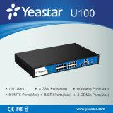 Yeastar 100 사용자 적당한 모듈 디자인 잡종 IP PBX