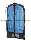 Оптовая торговля не тканого Gusseted висящей одежде мешки с See-Through виниловая пленка