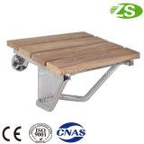 Alta calidad de madera montado en la pared de baño plegable Muebles Silla de ducha
