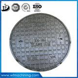 Couverture articulée/scellée de fer de moulage d'OEM/Customized de trou d'homme pour râper/évacuation (B125/C250/D400)