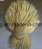 BBQ de Vleespen van het Bamboe van de Stok met Stokken van het Bamboe van het Embleem van de Douane de Kleine