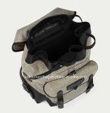 Sacs à main unisexes de cuir de sac à dos de concepteur de toile (LDO-16116)