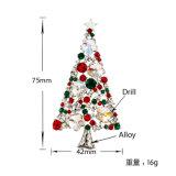 De kleurrijke High-End van de Verkoop van de Broche van de Kerstboom van het Kristal Nieuwe Hete Broches van de Atmosfeer voor de Broche van de Decoratie van Kleren