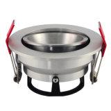Indicatore luminoso del punto messo inclinazione rotonda dell'alluminio GU10 MR16 LED del tornio giù (LT2204B)
