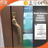 3D Gestreepte Houten Venster van het Profiel van het Aluminium van de Korrel, de Afbaardende Hardware van Duitsland van het Venster en buitenkant-Schommeling van het Venster