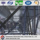 Stade élevé de structure métallique avec la rampe
