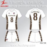 Healong中国デザイン服装ギヤデジタル印刷のフットボールのユニフォーム