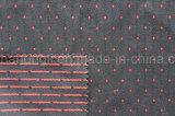 T/R catiónicos bordados, tecido de poliéster 66%32%Rayon 2%elastano, 300gsm