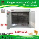 Grand oeuf automatique industriel Turing de Digitals Commerical incubateur de bon marché 5000 oeufs en grande vente (KP-25)