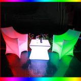 사건 소파 LED 여가 소파 LED 의자는 소파 LED에 의하여 조명된 바 클럽 가구를 조명한다