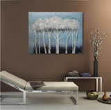 Alberi decorativi su pittura a olio