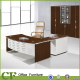 Walnut Wholesale 36mm Top Office Table Deisgn Metal Leg Office Table