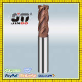 Solid Carbide longue tige 4 flûtes Rayon de coin fin Mill